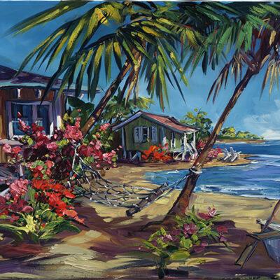 "Eden's Isle 15""x55"" by Steve Barton"