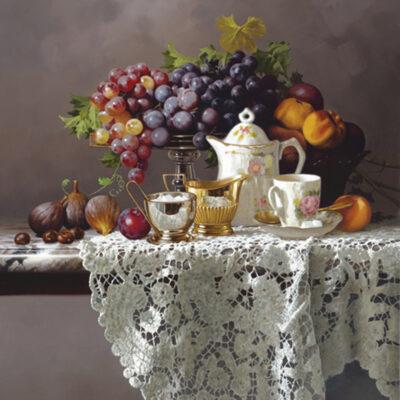 Morning Tea 24x30 by Rino Gonzalez