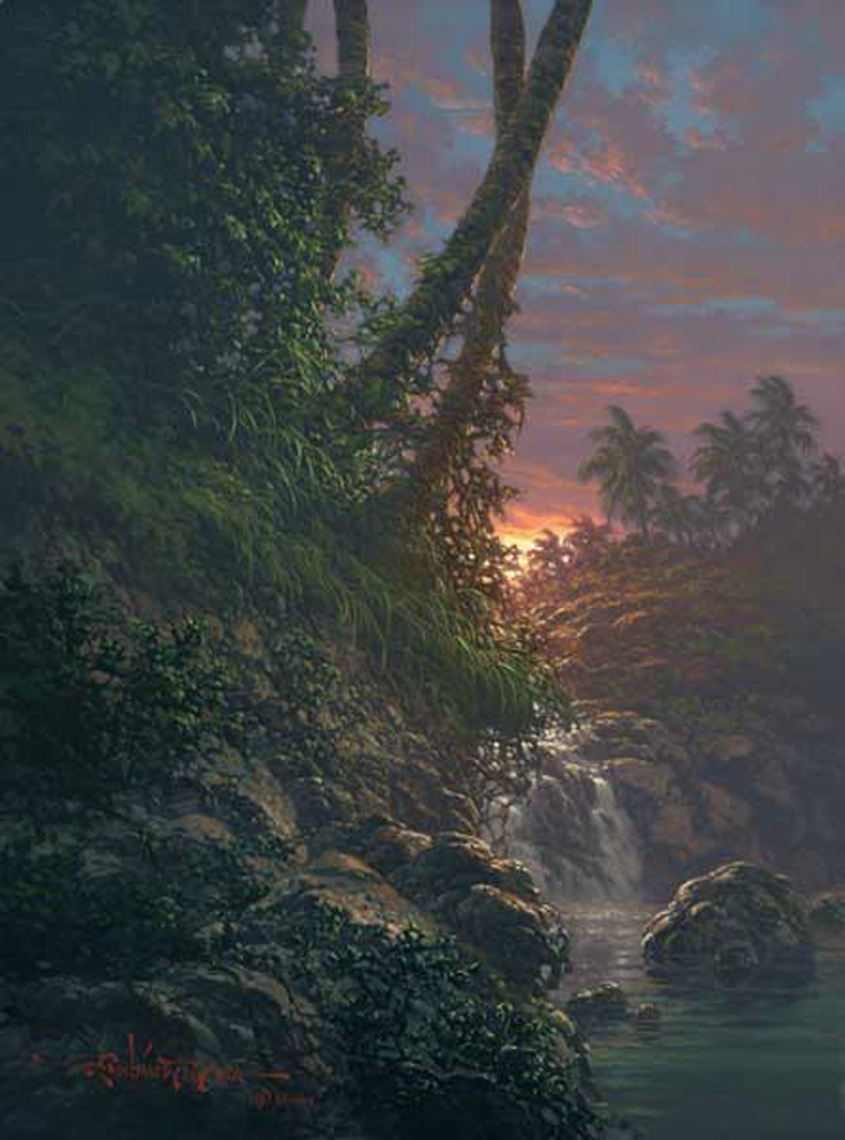 Nature's Hideaway 12x24 by Roy Tabora