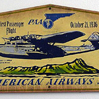 Pan Am 1st Passenger Flight by Steven Neil
