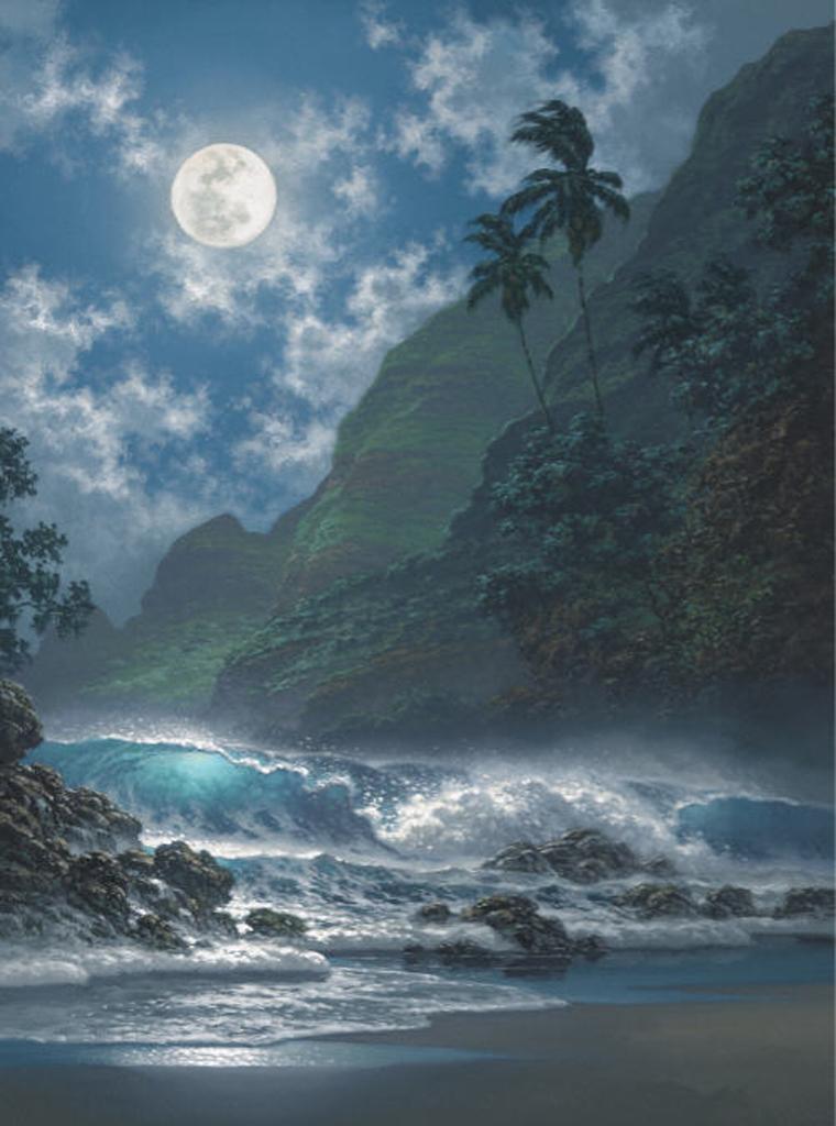 "Softly Glows The Night 12x16"" by Roy Tabora"