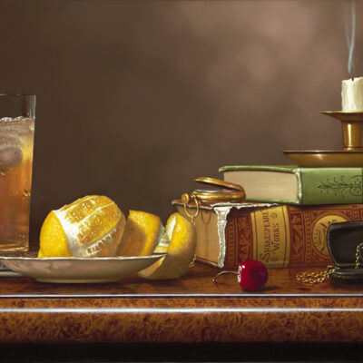 """Tea Time With The Classics 12x24"""" by Rino Gonzalez"""