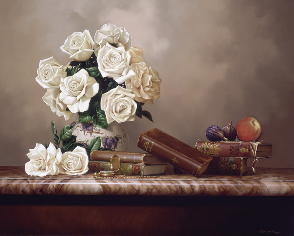 White Roses And Classics 20x24' by Rino Gonzalez