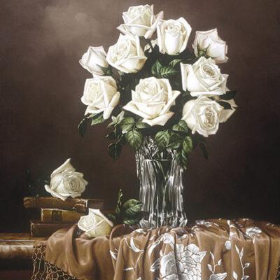 "White Roses 24x30"" by Rino Gonzalez"
