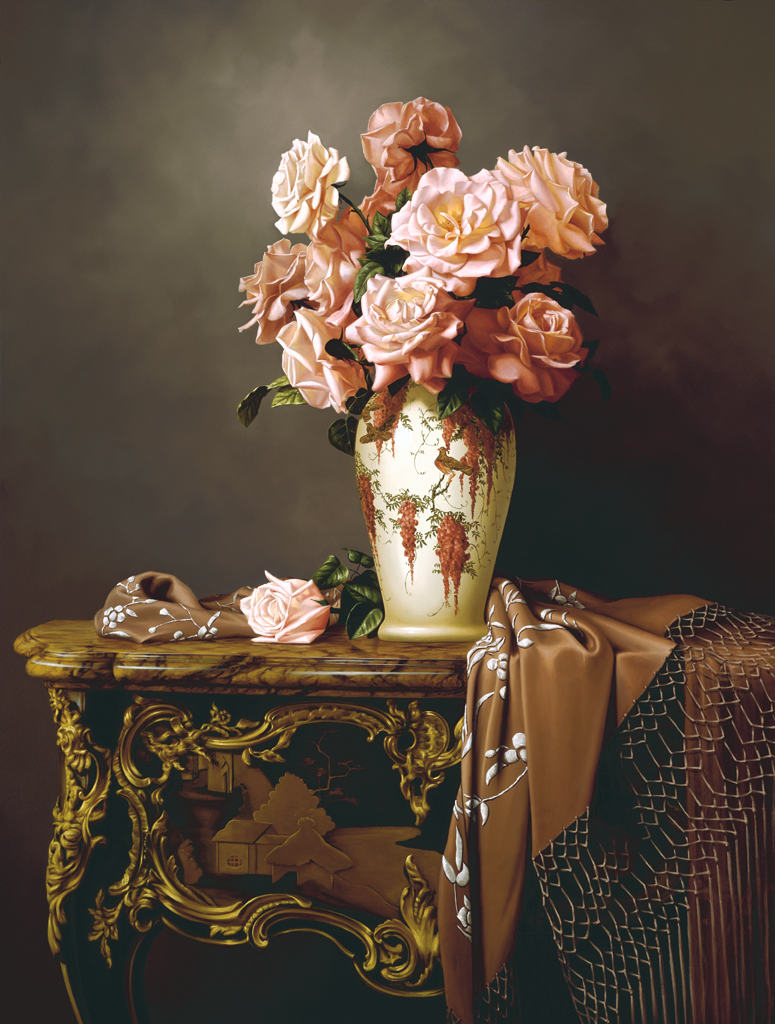 Peach Roses by Rino Gonzalez