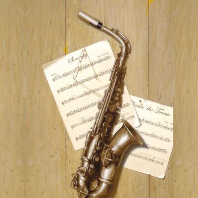 Simply Coltrane 18x36 by Rino Gonzalez