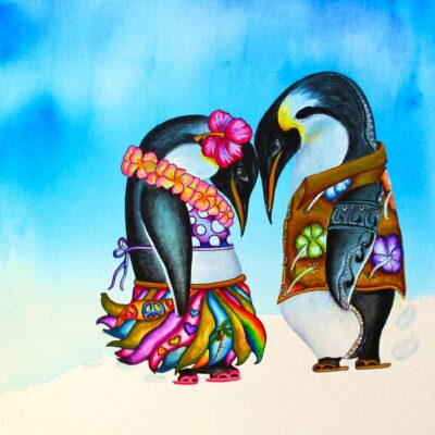 Aloha Penguins by Heather Anders
