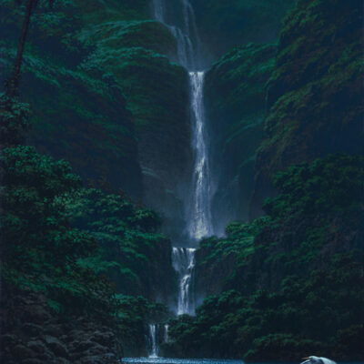 "Tropical Cascade 14x24"" by Roy Tabora"