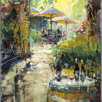 Umbrellas In The Sun by Steven Quartly