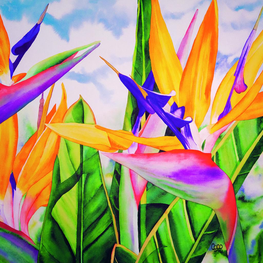 "Birdwatching 20x20"" by Coco"