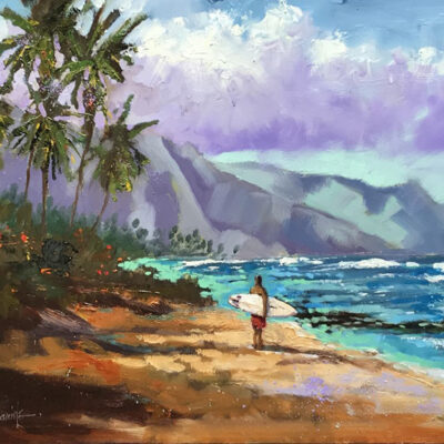 "Considering Kaena Point 12x16"" by Norm Daniels"