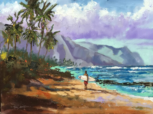 """Considering Kaena Point 12x16"""" by Norm Daniels"""
