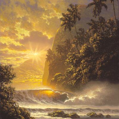"""Golden Sunburst 9x12"""" by Roy Tabora"""