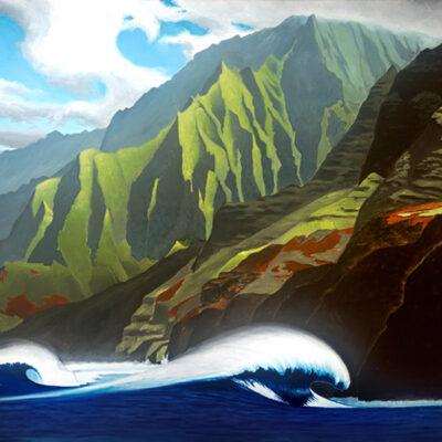 North Swell At Kalalau by Pepe