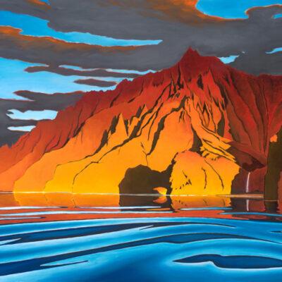 Napali Sunset 24x48 by Pepe