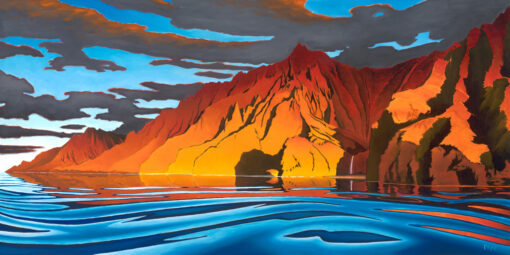Napali Sunset 24x48 by Pepe