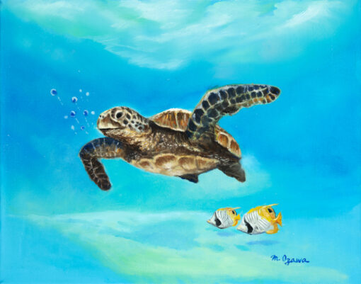 Honu And Friends 8x10 by Mimi Ozawa