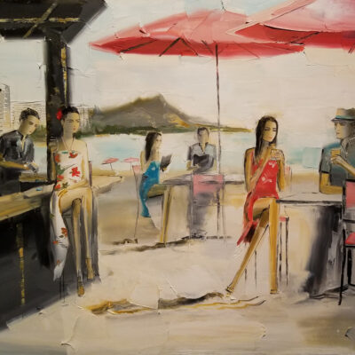 Mai Tai Bar 18x24 by Chuck Joseph