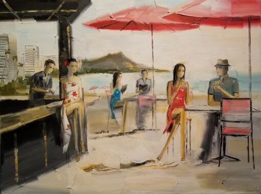 Mai Tai Bar 18x24 by Chuck Joseph