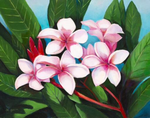 Pink Plumeria 8x10 by Mimi Ozawa