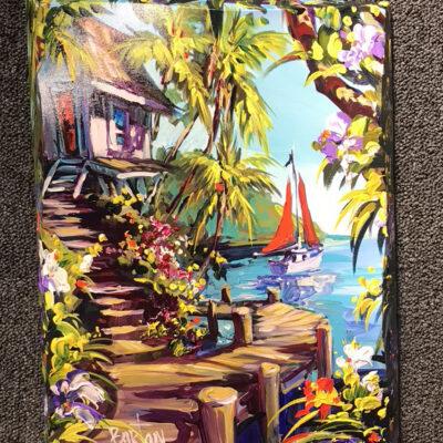 "Dockside Life 14x18"" by Steve Barton"