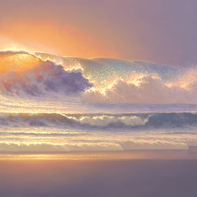 In The Beginning 20x60 by Roy Tabora