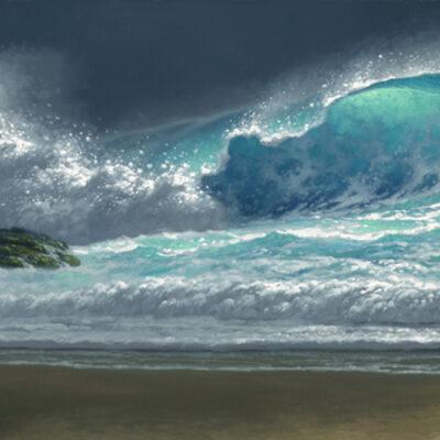 Island Breakers 15x60 by Roy Tabora