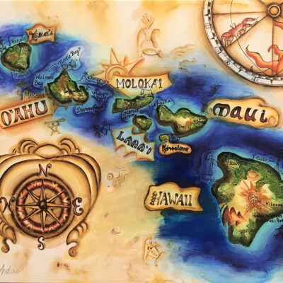 Map Of The Islands by Heather Anders