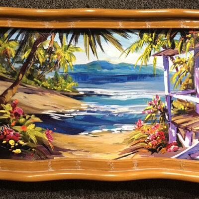 "Palm Tree Oasis 12x24"" by Steve Barton"