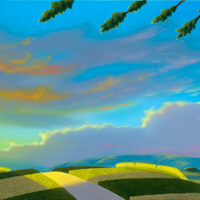 Bright Morning Star 12x48 (oil on panel) by Michael Provenza