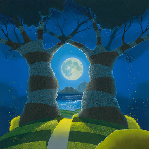 To the Moon and Back 18x18 by Michael Provenza