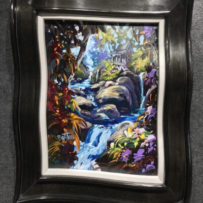 "Rocky Falls 18x24"" by Steve Barton"