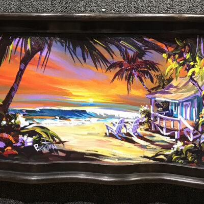 """Sundown Surf's Up 12x24"""" by Steve Barton"""