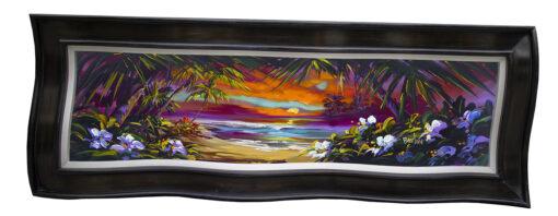 Sunrise Palm Framed by Steve Barton