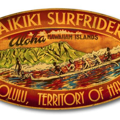 Waikiki Surfriders by Steven Neill