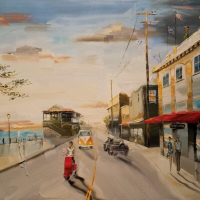 Sunset Over Front Street by Chuck Joseph