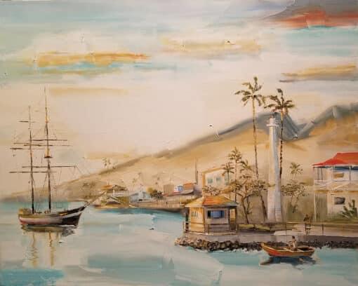 """Lahaina Harbor 24""""x30"""" by Chuck Joseph"""