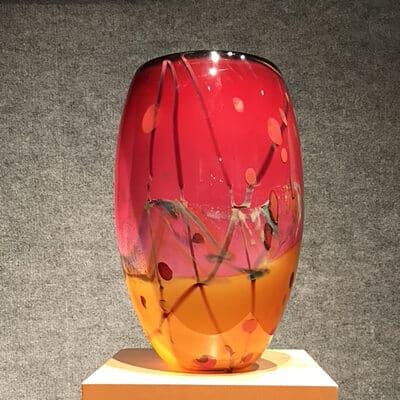 Landscape Vase by Seattle Glassblowing Studio