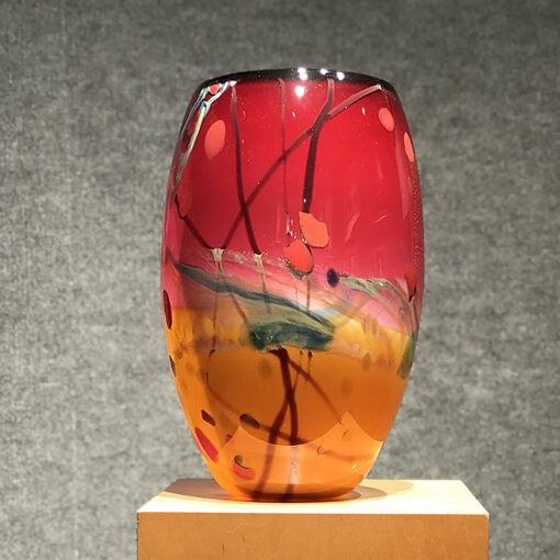 Landscape Vase by Seattle Glass - View 3