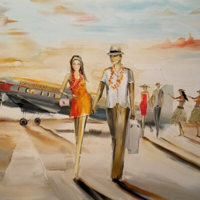 Golden Age of Travel 18x24 by Chuck Joseph