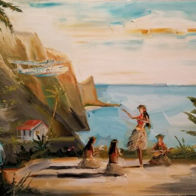 Welcome To Paradise 24x30 by Chuck Joseph